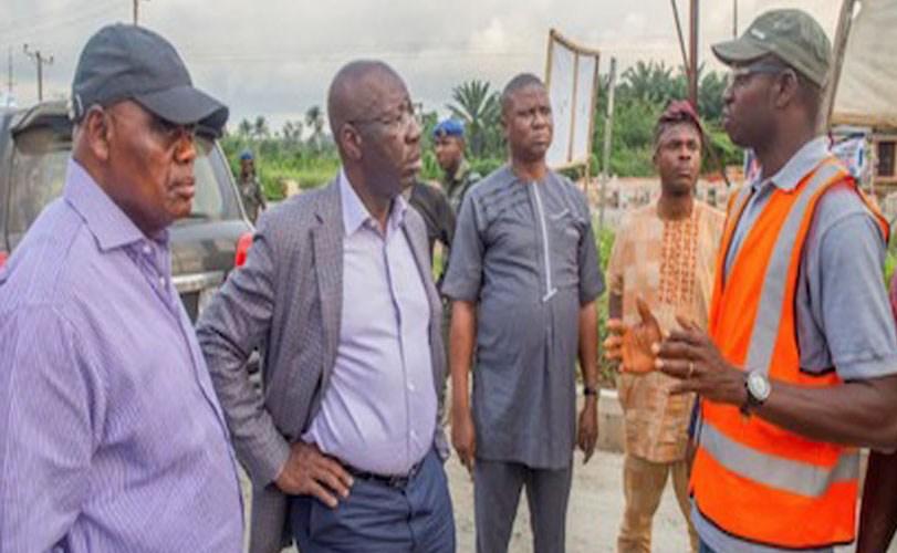 Obaseki laments deplorable state of Benin-Ehor-Ekpoma-Auchi Road