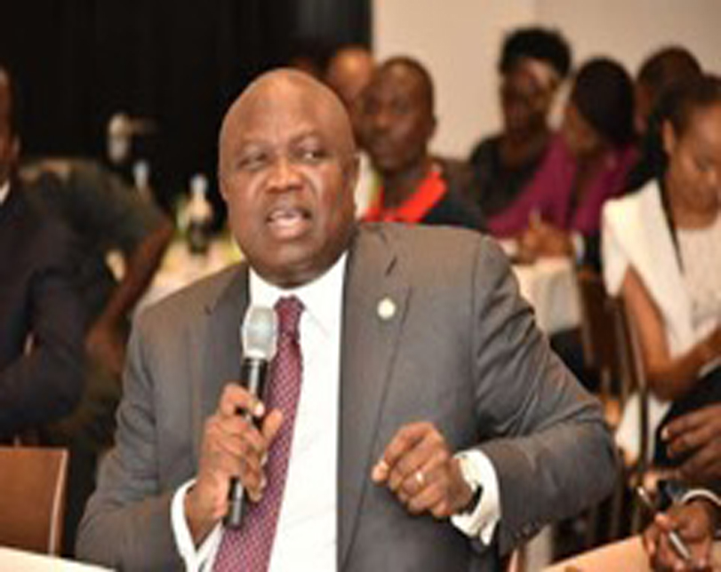 Governor Ambode Storms Scene Of Building Collapse On Lagos Island (Photo)