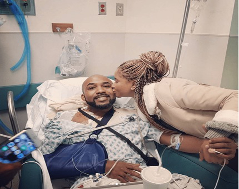 'I Don't Deserve You' – Banky W To Adesua Etomi As He Shares His Battle With Skin Cancer