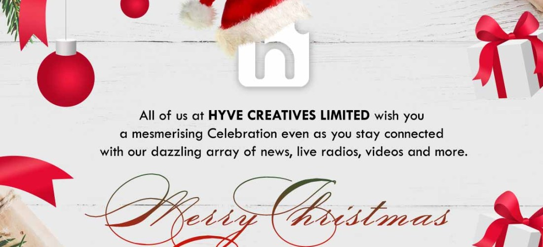 Merry Christmas from all of us at Hyve Creatives Limited.