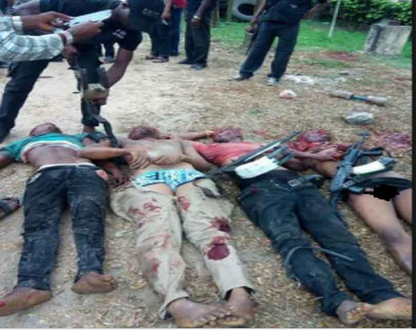 Four suspected armed robbers impersonating SARS operatives shot dead in Rivers State