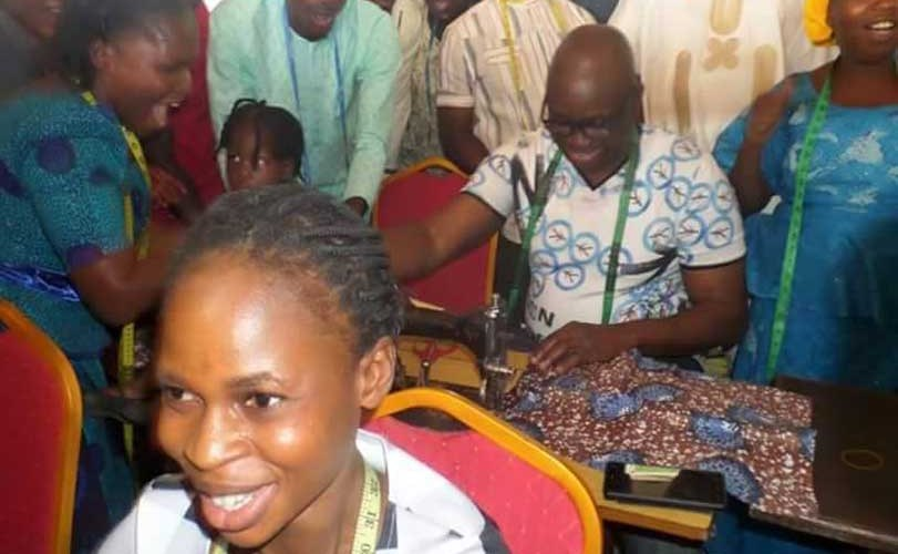 Photos: Governor Fayose employs 200 tailors to sew Christmas clothes for children of the state