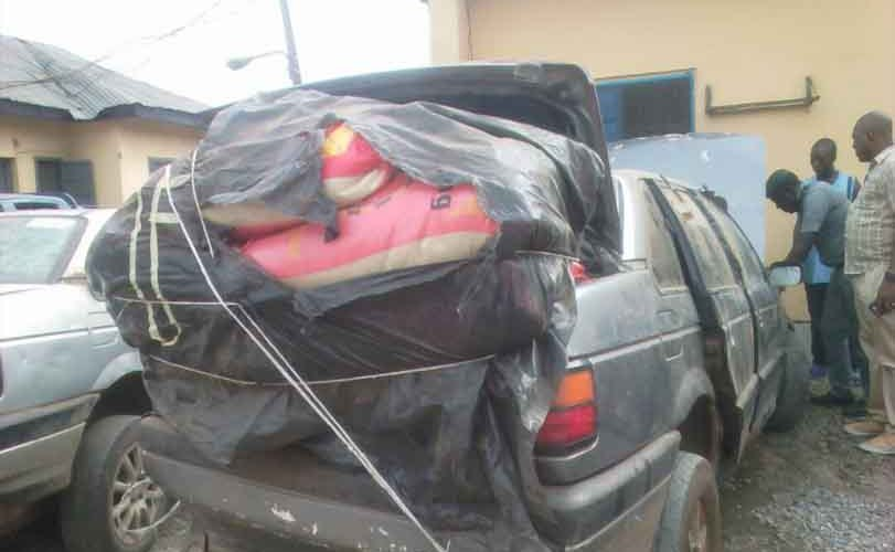 Lagos police command intercept six vans loaded with N50m worth of contraband goods