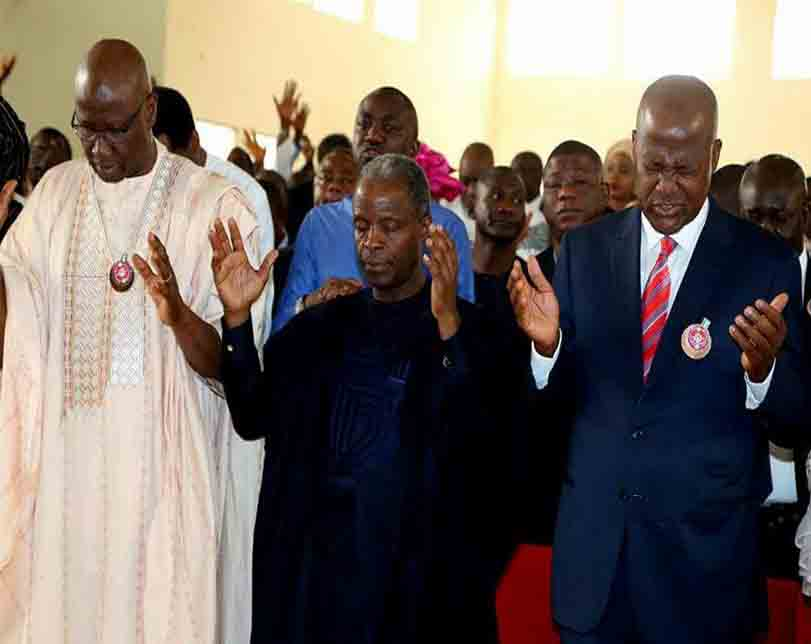 Photos from the 50th birthday thanksgiving service of Speaker of the House of Reps, Yakubu Dogara