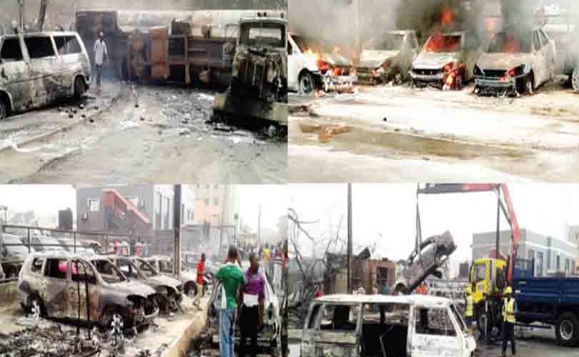 Tanker explosion destroys 21 vehicles, motorcycles in Festac, Lagos