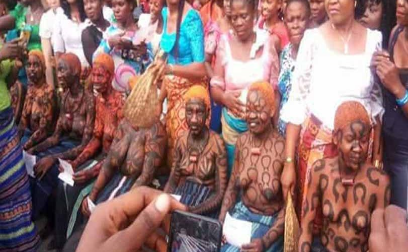 Photos: Virgins step out topless as they are initiated into womanhood during the Iria ceremony in Rivers state