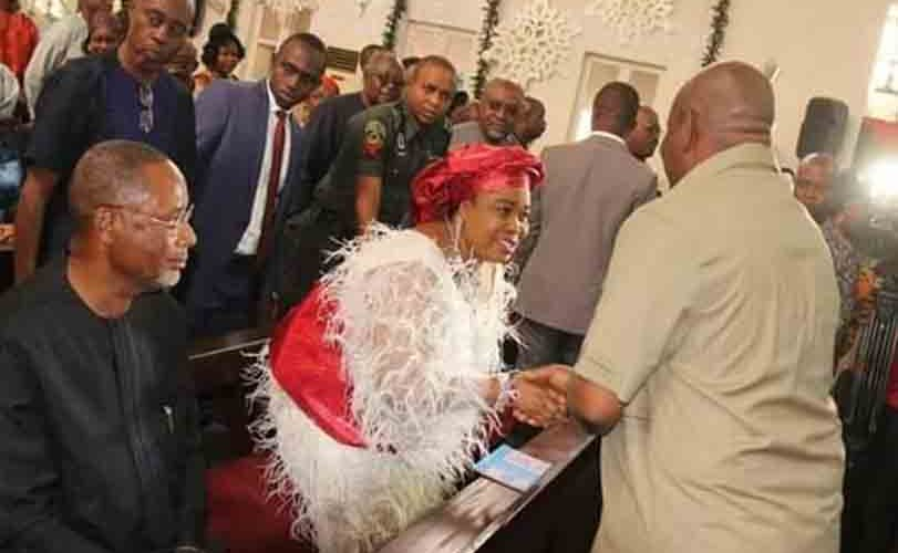 Photos: Former first lady, Patience Jonathan's Christmas outfit