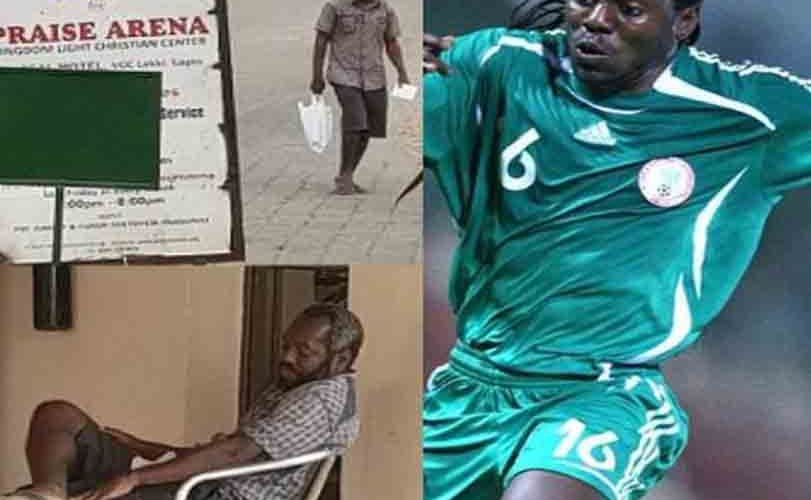 Disturbing photos of ex-Super Eagles player, Wilson Oruma who has suffered relapse of emotional trauma after being duped…