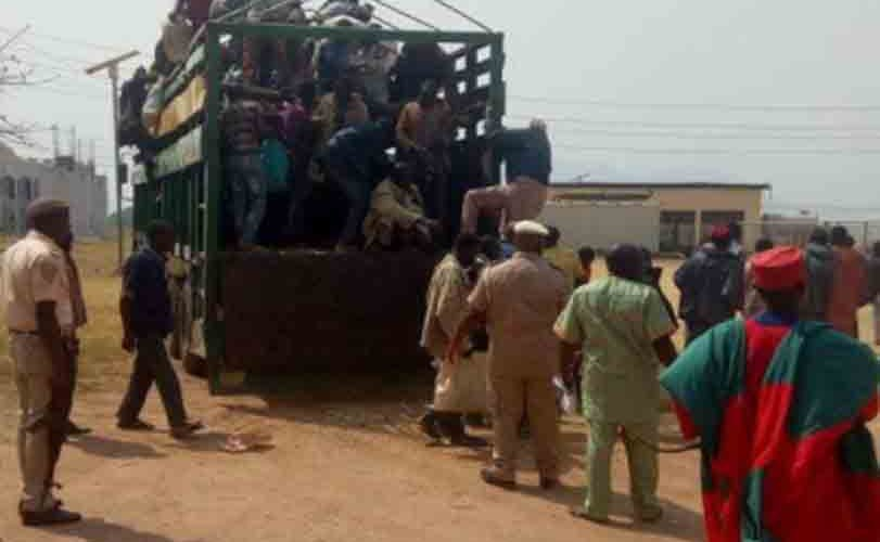 Immigration officers arrest Nigerien citizens smuggled into Abuja in a truck used to transport goats and rams