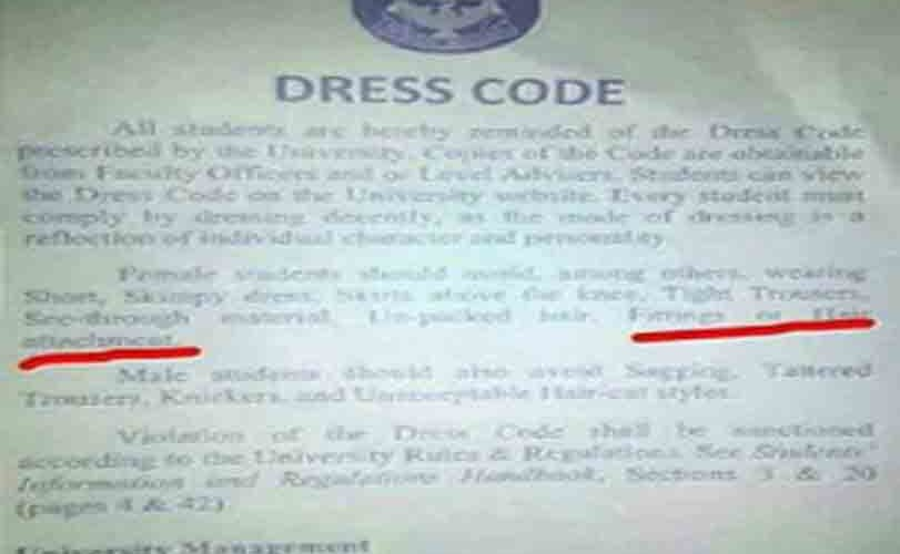 University of Ilorin bans female students from wearing hair attachments