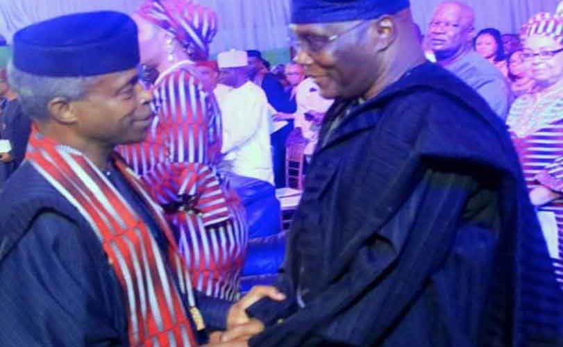 Yemi Osinbajo meets Atiku Abubakar in Abuja