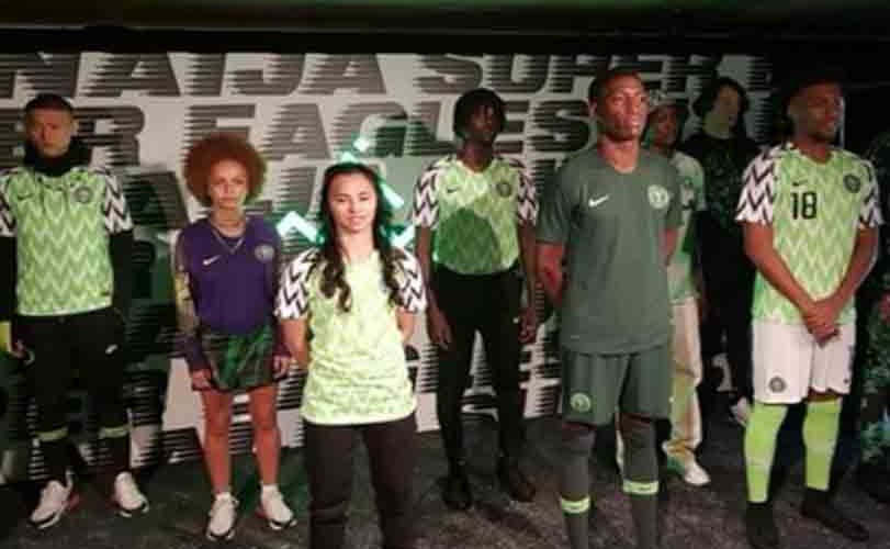 Photos: NFF unveils home and away kits for Russia 2018 World Cup