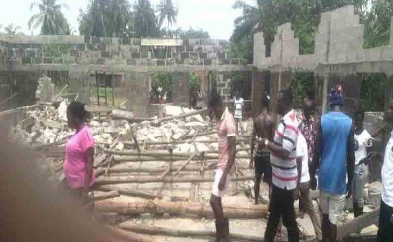 Pregnant woman, four others killed in church building collapse in Ondo