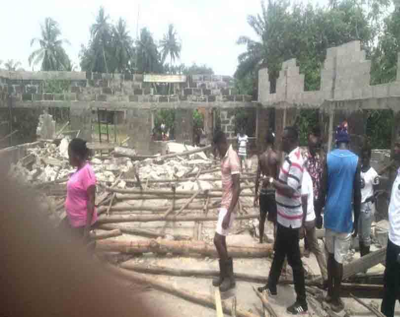 Two injured as building collapses during demolition