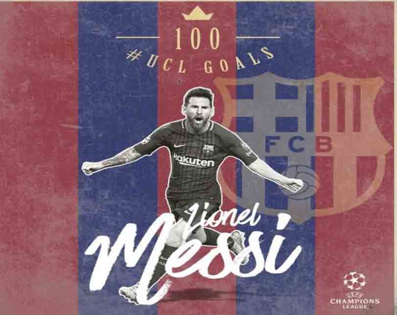 Lionel Messi Becomes Second Player To Ever Score 100 Champions League Goals