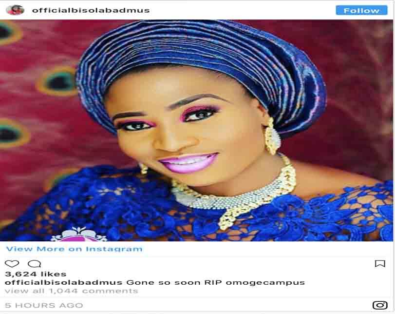 Nollywood actress, Omoge Campus, is dead