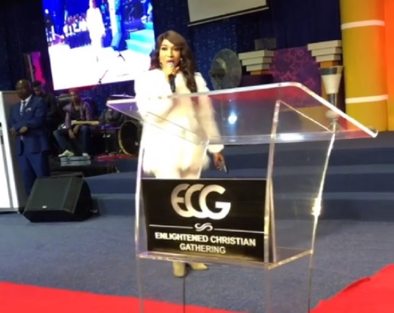 Born-again Actress, Tonto Dike Ministers To Over 7,000 Youths At ECG Church In South Africa (Photos)