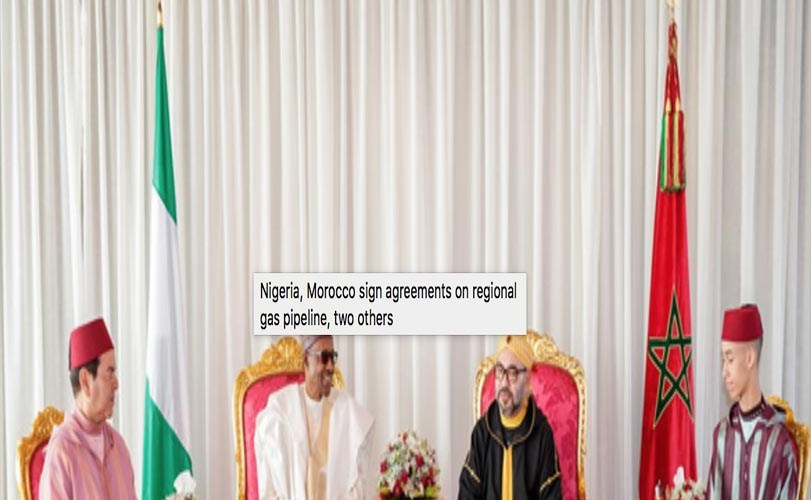 Nigeria, Morocco sign agreements on regional gas pipeline, two others