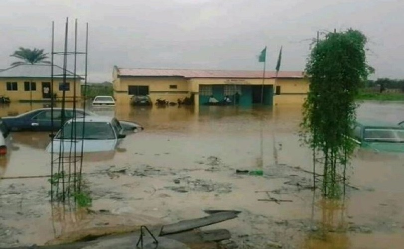 Ilorin Police Station Submerged By Flood (Photos)