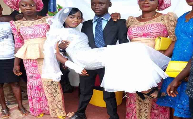 Controversy As Alleged Wedding Photos Of Teenage Couple In Ondo Emerge