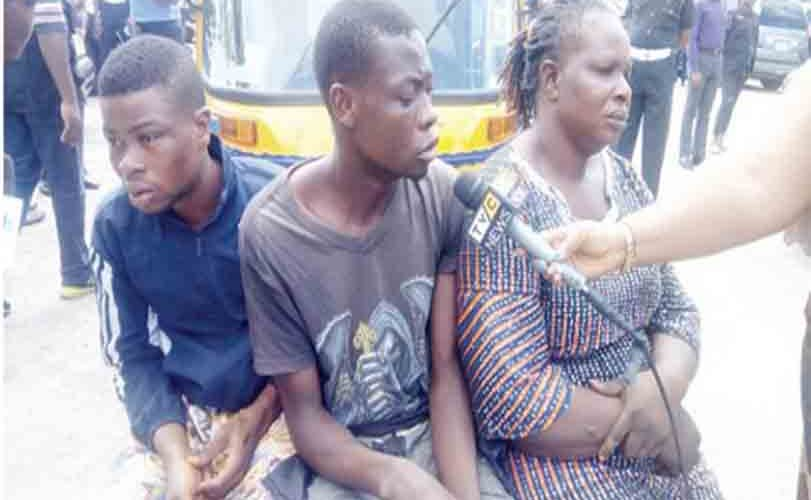 Woman Who Sponsors Armed Robbers In Lagos Arrested With Gang Members (Photo)