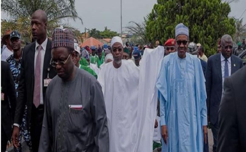Buhari arrives in Osogbo
