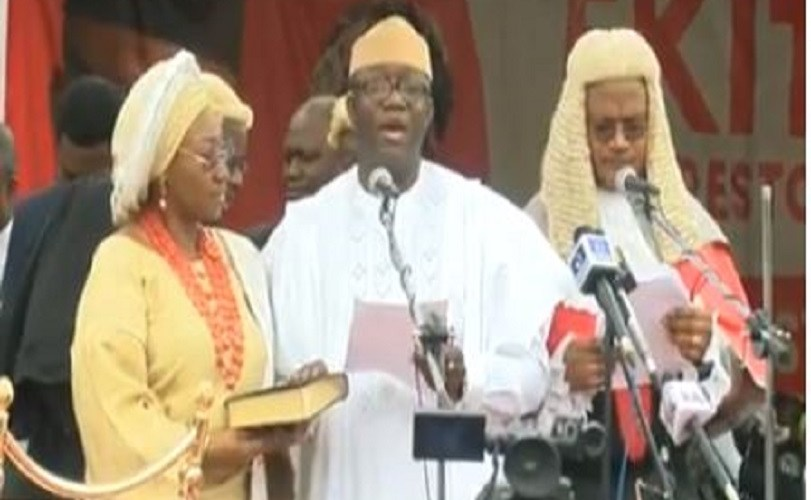 Kayode Fayemi Sworn-in As New Governor Of Ekiti State (Photos)