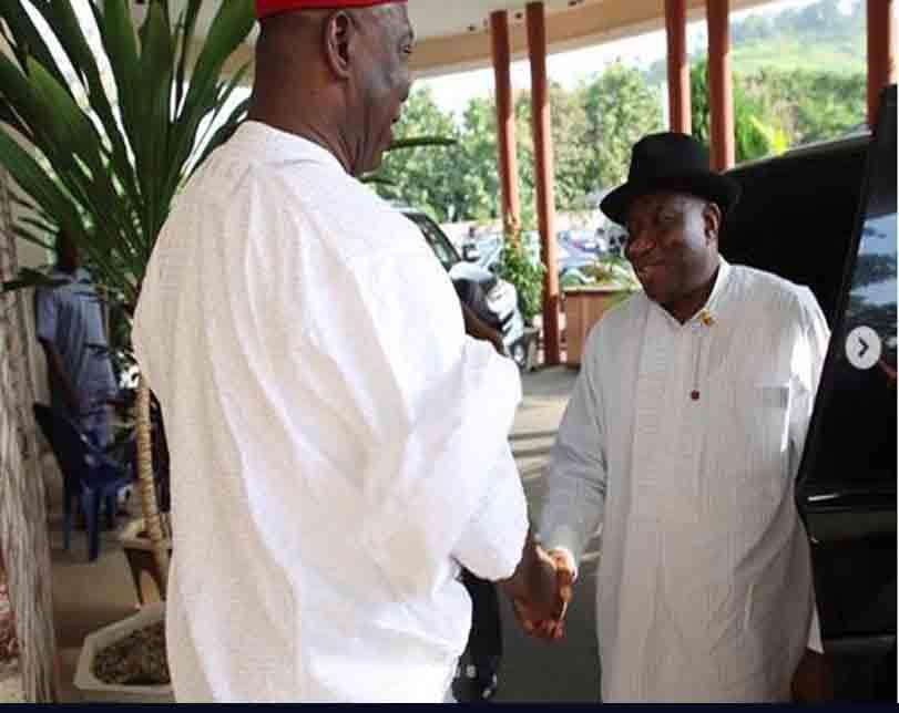 Goodluck Jonathan Visits Ekweremadu Over Assassination Attempt (Photos)