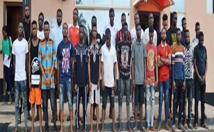 EFCC Arrests 24 OOU Students, Others For Internet Fraud, Exotic Cars, Fetish Items Recovered (Photos)