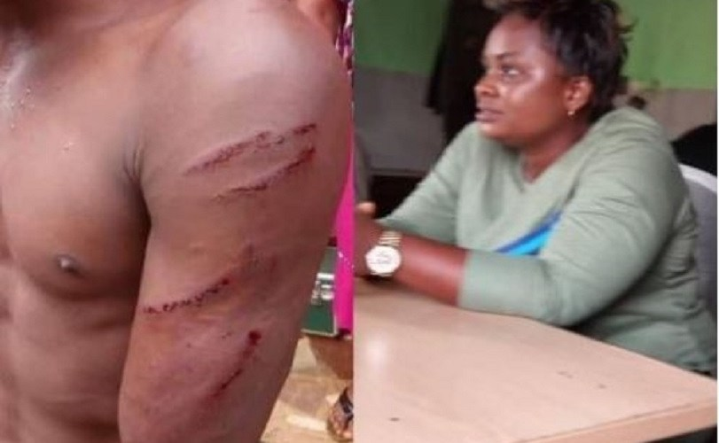 Face Of Woman Who Ordered Thugs To Beat The Hell Out Of Her Gateman For Demanding His Salary