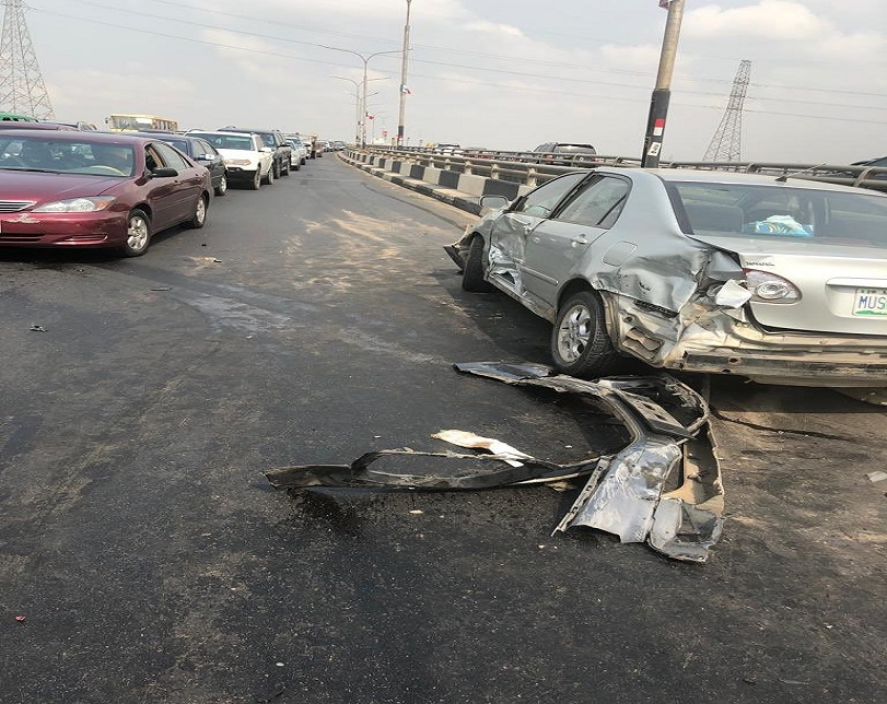 Ghastly Road Accident Along Third Mainland Bridge (Photos)