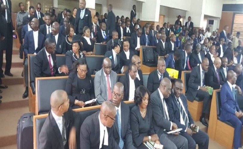 Drama As 47 Lawyers Storm CCT For The Trial Of CJN, Onnoghen (Photos)