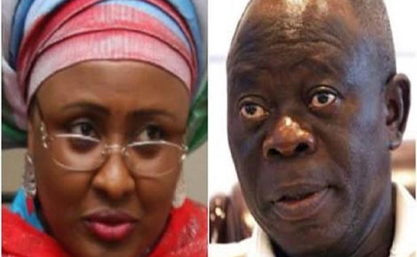 Aisha Buhari and Oshiomhole Still Fighting?