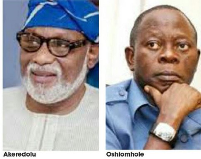 2019: Akeredolu/Oshiomhole Rift Threatens APC Chances In Ondo