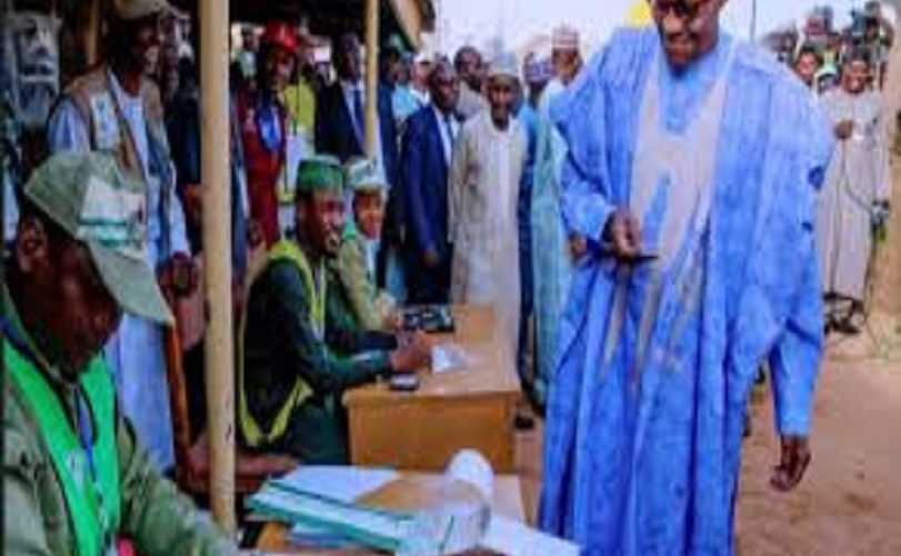 "Buhari Votes In Daura… Asked if he'll accept if defeated, he said ""I Will Win"""
