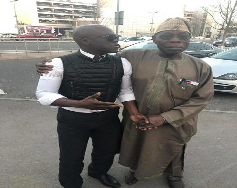 Obasanjo Spotted In London After Buhari's Presidential Election Victory (Photos)