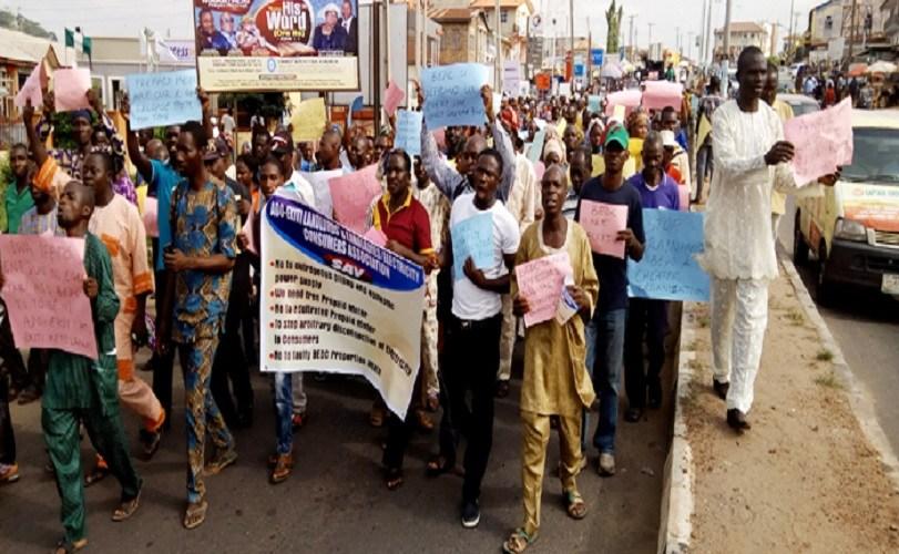 Ekiti teachers protest non-payment of salaries
