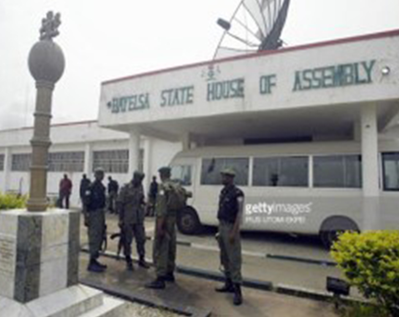 Breaking: Shootings in Bayelsa Assembly, as irate youths storm complex, aborts sitting, mace removed
