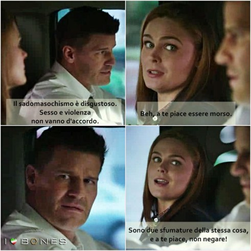 Booth e Brennan parlano di sesso!