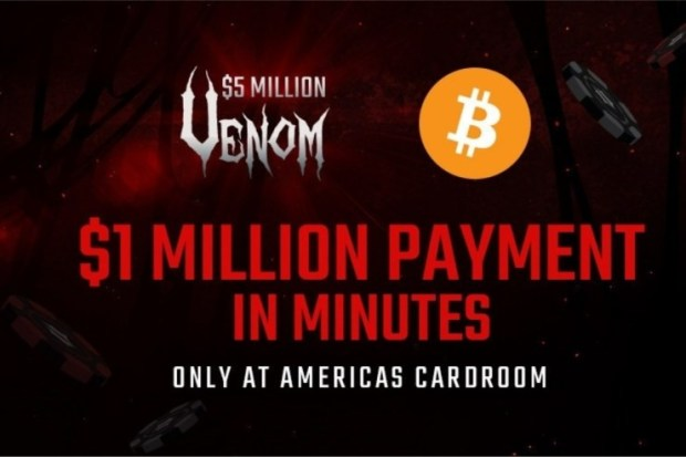 venom Americas Cardroom Will Send $1 Million via Bitcoin to $5 Million Venom Winner