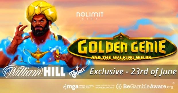 GoldenGenie-exclusive_CLIENT Nolimit City & William Hill group premier, Golden Genie & The Walking Wilds