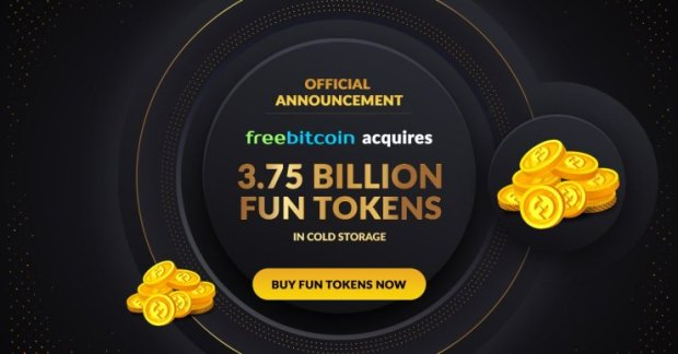 FreeBitco.in Takes the Reins of FUN in Multi-Million Dollar Token Acquisition
