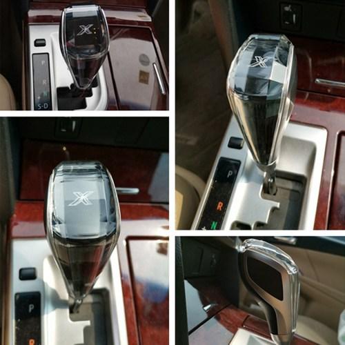 LED Auto Luxury Crystal Shift Gear Knob Handle For Toyota Mazda Hyundai BMW X3 5