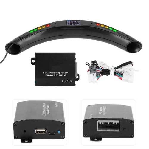 Steering Wheel Race Digital Display LED Shift Indicator Lights OBD2 Module Kits