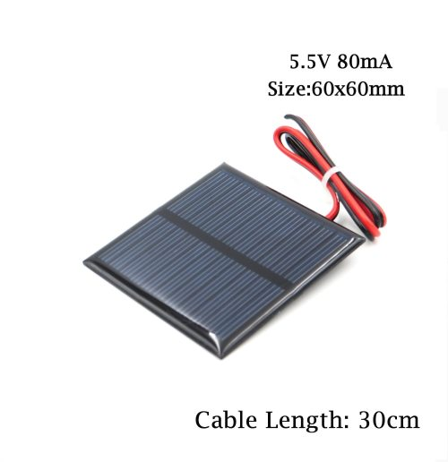 5.5V Solar Panel Study Polycrystalline Silicon DIY Battery Charger
