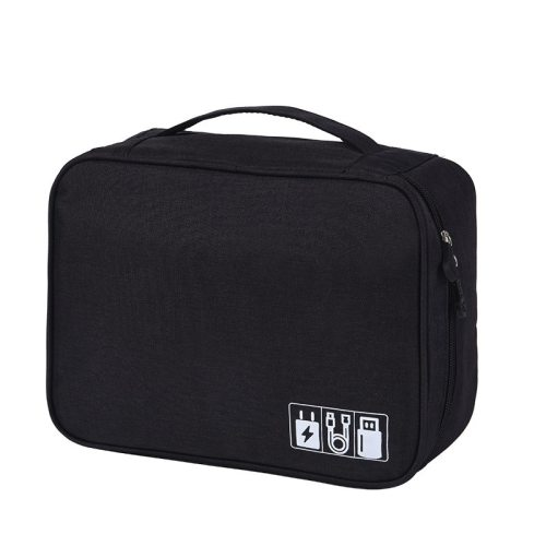 Digital Gadget Devices Storage Bag Cable U Disk Power Bank Organizer Container