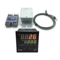100-240V PID Digital Temperature Controller + radiator + 2M K Thermocouple + SSR