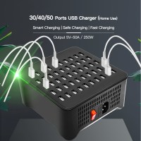 250W 30/40/50 Ports USB HUB Adapter Charger Charging Station Dock Socket