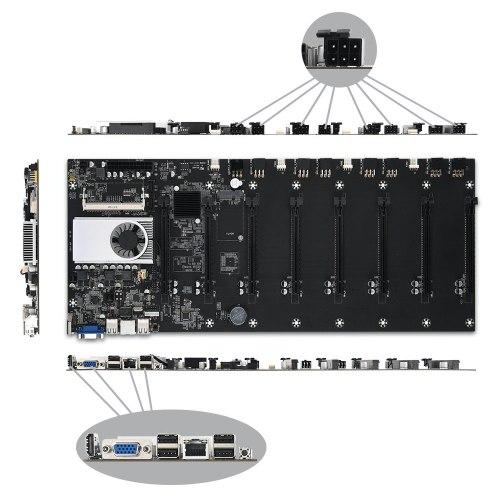 8-GPU Bitcoin Mining Motherboard Onboard 1037U CPU HM77 Chipset VGA HDMI PCI-E
