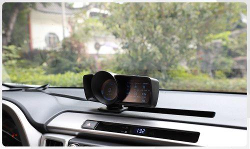 Multi-Function Dashboard Car HUD Head Up Display OBD2+GPS Smart Speedometer